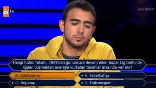 Kim Milyoner Olmak İster'de yarışmacıyı yakan futbol sorusu