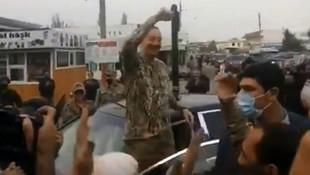Karabağ'da tarihi anlar! Aliyev böyle karşılandı