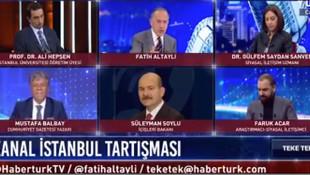 Fatih Altaylı, canlı yayında Bakan Soylu'ya öyle bir soru sordu ki