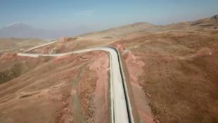 Sınıra yapılan ''Türk Seddi'' havadan görüntülendi
