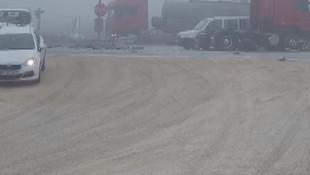 Ortalığı savaş alanına çeviren  zincirleme kaza kamerada