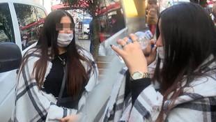 Kadın turist, polisi çileden çıkardı