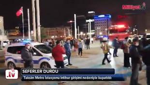 Taksim Metro İstasyonu intihar girişim nedeniyle kapatıldı