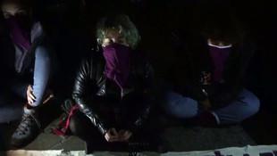 Taksim'de 25 Kasım ablukası- Kadınlar oturma eylemlerini sürdürmeye devam ediyor
