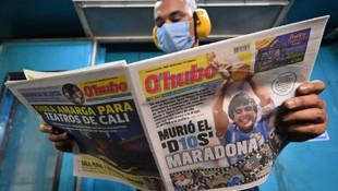 İngilizlerden tepki çeken Maradona manşetleri
