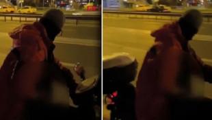 İstanbul'da iğrenç olay! Motosiklet üzerinde kadınlara bakarak...