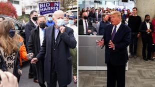 ABD'de seçim gününde başkan adayları böyle görüntülendi