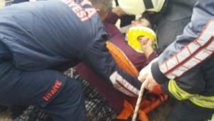 Konya'da su kuyusuna düşen kadın böyle kurtarıldı