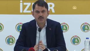 Bakan Kurum'dan İzmir açıklaması: 1 yıl içinde konutları teslim edeceğiz