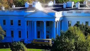 Beyaz Saray'ın önüne gelen kamyon olay oldu!