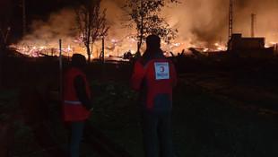Tüm köy yangında küle döndü!