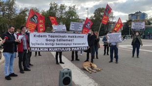 İstanbul'da AK Parti'ye kıdem tazminatı protestosu