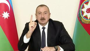 Aliyev: ''Herkes yeni gerçekliği kabullenecek''