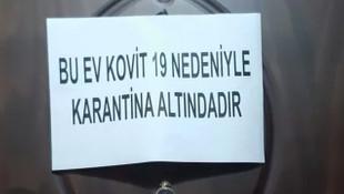 Balıkesir'de korona vakası olan evlere uyarı notu!