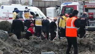 Ankara'da 2 işçi göçük altında kalarak yaşamını yitirdi