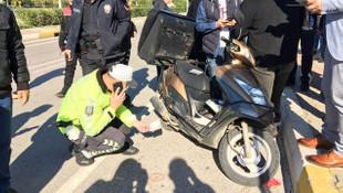 Antalya Adliyesi'nde paket servis motosikleti panik yarattı