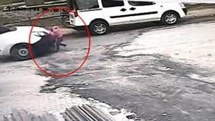 3 yaşındaki çocuğun öldüğü feci kaza kamerada