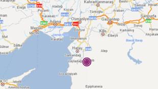 Suriye'de deprem! Hatay'da da hissedildi