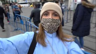 Yer: Taksim... Kadın turist gazetecilere saldırdı!