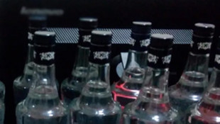 Gaziantep'te 200 şişe sahte içki ele geçirildi