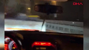 Trafik magandasının tehlikeli oyunu kamerada
