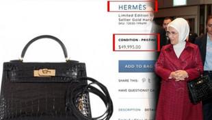 ''Emine Erdoğan'ın 50 bin dolarlık çantası'' haberine erişim engeli