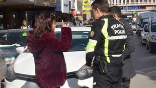 Trafik polisini tehdit eden kadınla ilgili yeni gelişme
