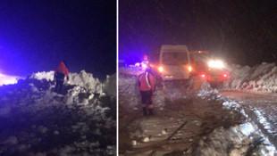 Trabzon'da çığ düştü ! Yol ulaşıma kapandı