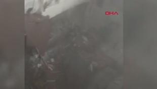 Binanın çökmesinin ardından yardım çığlıkları ! O anlar kamerada...