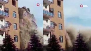 Elazığ'da 4.2 büyüklüğünde deprem! 6 katlı bina çöktü