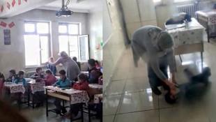 Okulda öğrenciye şiddet kamerada !