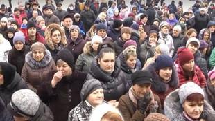Ukrayna'da koronavirüs protestosu! Çin'den tahliye edilenleri istemediler