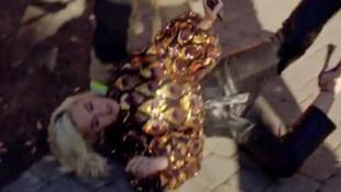 Katy Perry çekimlerde bayıldı