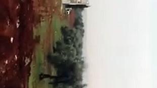 Rus uçakları Suriye'de hedefleri vururken böyle görüntülendi