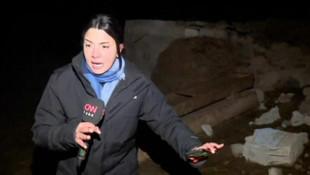 Deprem canlı yayında yakaladı