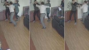 Okulda skandal görüntüler! Müdürün odasında öğrenciyi dövdü