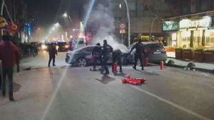 İstanbul'da olaylı gece! Linç edilmekten polis kurtardı