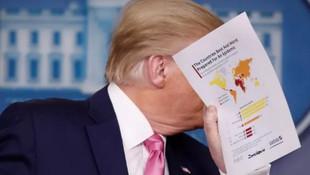 Trump'ın elindeki Koronavirüs kağıdında Türkiye detayı