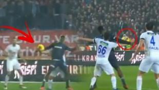 Trabzonspor - Ç.Rizespor maçında penaltı tartışması