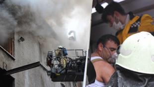 Bayrampaşa'da korkutan yangın! Bir itfaiye eri yaralandı