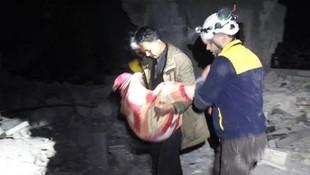 Rus savaş uçakları İdlib'i vurdu: 5 ölü