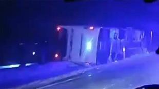 Nevşehir'de yolcu otobüsü devrildi: 9 yaralı