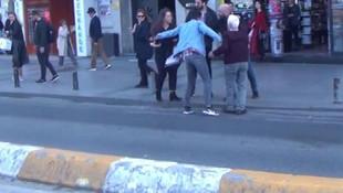 Taksim'de taciz rezaleti !