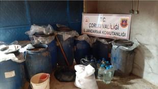 Evde kaçak içki imalatına Jandarma ''dur'' dedi