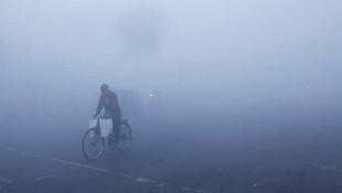 Sis değil hava kirliliği! İnanılmaz görüntüler