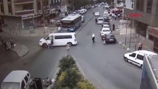 Trafikte öldüren yumruk kamerada