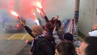 Trabzonspor taraftarı takımını yalnız bırakmadı
