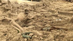 30 şehidin mezarı 108 yıl sonra ortaya çıkarıldı