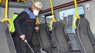 Elazığ'da 250 toplu taşıma aracı dezenfekte edildi
