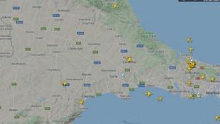 Uçuş yasağı radara böyle yansıdı